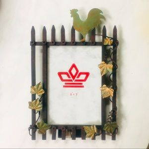 Picture Frame Farmhouse Rustic Rooster Metal 5 x 7